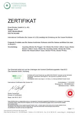 Bio Suisse certificate
