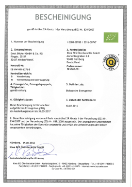 Biocertificate german