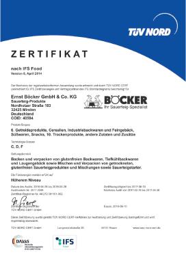 IFS-Certificate Nordholzer Straße